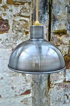 RETRO STEAMPUNK ANTIQUE DISTRESSED STEEL CEILING LIGHT SHADE LAMP HANGING G1B