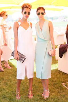 The Sixth Annual Veuve Clicquot Polo Classic: Carly Cushnie and Michelle Ochs, both in Cushnie et Ochs