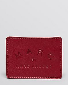MARC BY MARC JACOBS Big N' Boss Credit Card Holder. $78.00 http://www1.bloomingdales.com/shop/product/marc-by-marc-jacobs-big-n-boss-credit-card-holder?upc_ID=1877271&ID=1007222&Quantity=1&EXTRA_PARAMETER=WISHLIST&WishlistID=&PseudoCat=my-wl-xx-xx.index