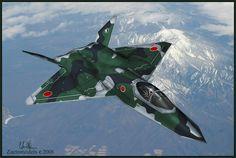 Japanese YF-23 Black Widow Fighter