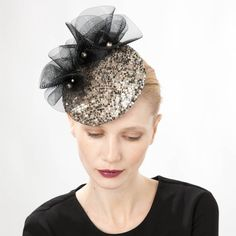 Leuco- Ruffle Sequin Cocktail Hat