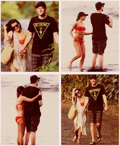 Cory Monteith and Lea Michele on vacation in Hawaii <3 #monchele