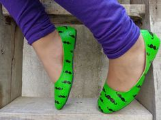green handpainted ballerina by www.zubiya.com movember month