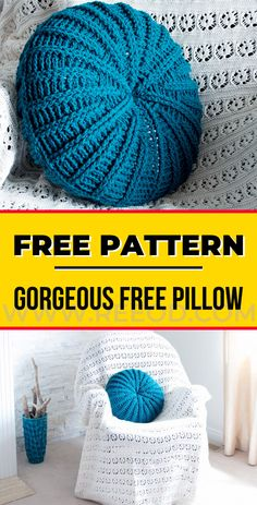 Crochet gorgeous free round crochet pillow pattern crochet pillow free pattern free crochet pillow patterns to brighten up your home Crochet Round, Crochet Home, Crochet Gifts, Diy Crochet, Crochet Things, Crochet Poncho, Crochet Ideas, Crochet Pillow Patterns Free, Free Pattern
