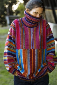 Kaffe Fassett - I actually own a funky patterned knit vest of his - I purchased in London years ago in his early days. Knitwear Fashion, Knit Fashion, Knitting Designs, Knitting Projects, Pulls, Hand Knitting, Knit Crochet, Knitting Patterns, Sweaters
