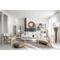 Biblioteca de madera maciza blanca An. 150 cm
