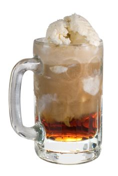 The Eskay Slammer is basically a root beer float in which three or four ounces of the root beer has been replaced by bourbon. This is a powerful drink – a double or better.