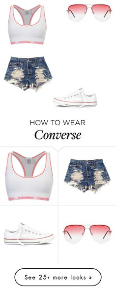 """"" by melodyleighmitchell on Polyvore featuring Calvin Klein, Levi's, Converse and Quay"