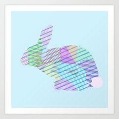 Rabbit Art Print by Nessieness - $17.00