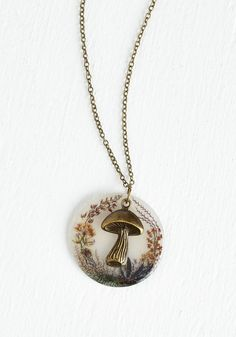 Be Toadstool My Heart Necklace. Set your heart racing and your style alight with charm by donning this vintage-inspired pendant necklace! #multi #modcloth