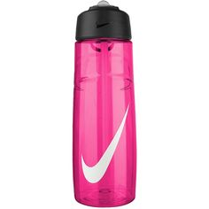 Nike Flow Water Bottle ($31) ❤ liked on Polyvore featuring sports, accessories sport, pink, sports fashion and womens-fashion