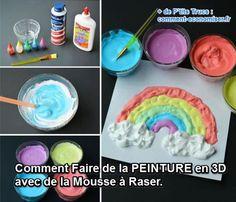 les enfants adorent la peinture mousse dcouvrez la recette maison ici - Comment Faire De La Peinture Maison