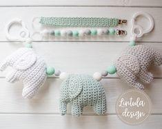 Virkattu tuttinauha + ohje - Ikkunalaudalla Knit Crochet, Pearl Necklace, Crochet Necklace, Pearls, Knitting, Jewelry, Baby, Amigurumi, String Of Pearls