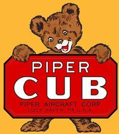 Piper Cub logo J3 Cub, Piper Aircraft, Bush Pilot, Bush Plane, Float Plane, Aircraft Design, Aviation Art, Model Airplanes, Cubs