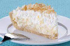 Tropical Coconut Cream Pie in Coconut Cookie Crust