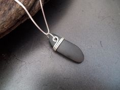 Sea glass jewelry Beach stone necklace with by FatCatsOnTheBeach