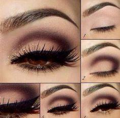 Como maquillarse los ojos, paso a paso.