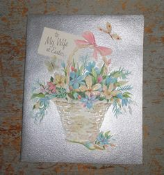 Vintage Greeting Card Easter Hallmark To My Wife by TheBackShak, $4.00