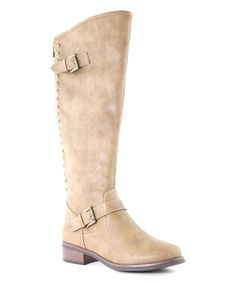 Look at this #zulilyfind! Taupe Stud Eny Boot by Bella Marie #zulilyfinds