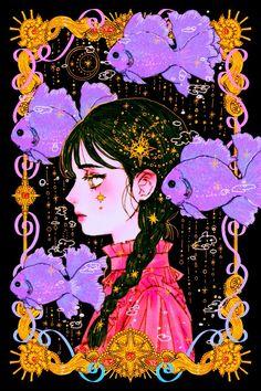 Art And Illustration, Illustrations, Kunst Inspo, Art Inspo, Fantasy Kunst, Fantasy Art, Aesthetic Art, Aesthetic Anime, Arte Sailor Moon