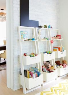 Stylish Toy Storage That Won't Detract From Your Decor | Some smart toy storage ideas to get you inspired, whether you're ready to build something custom or buy something ready-to-use for your kid's room or playroom areas.