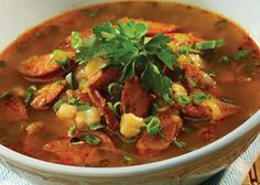 """Portuguese Sausage """"Posole"""" Soup 
