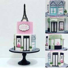 """""""O bolo que eu queria pra mim. Por @cakesalon #ideiasdebolosefestas #paris #boloparis #festaparis #louisvuitton #bololouisvuitton #festalouisvuitton…"""""""