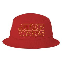 Stop Wars Embroidered Bucket Hat