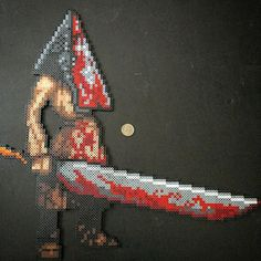 Pyramid Head - Silent Hill perler beads by sweetandtwixkreations