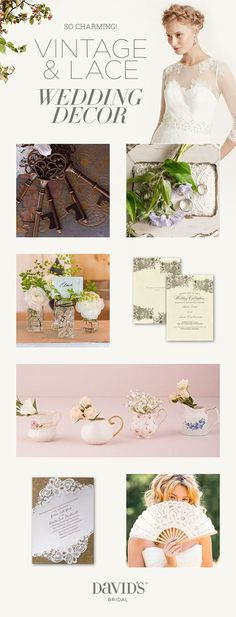 Picture a wedding brimming in sepia-toned romance - from lovely lace accents to every magical detail.