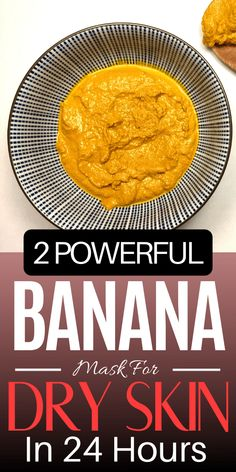 Here are 2 powerful banana face masks for dry skin that you can make and use right away using natural ingredients. This dry skin face mask will help you get alm Mask For Dry Skin, Dry Skin On Face, Tumeric Masks, Cucumber Face Mask, Banana Face Mask, Dry Skin Remedies, Natural Beauty Tips, Skin Care Tips, Face Masks
