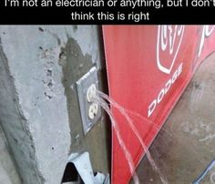 I'm not an electrician or anything...