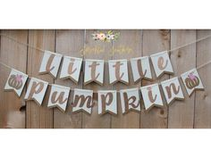 Little Pumpkin Theme Girl Banner for Baby Shower or First Birthday Cute Baby Shower Ideas, Baby Girl Shower Themes, Baby Shower Fall, Fall Baby, Girl Birthday Themes, Baby Girl First Birthday, Birthday Ideas, Little Pumpkin Shower, Fall 1st Birthdays
