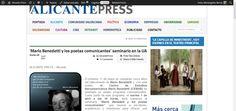 'Mario Benedetti y los poetas comunicantes' seminario en la UA | Alicante Press #ALCPress #BENEDETTI