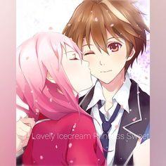 Inori & Shu (Guilty Crown),so sweet Anime Chibi, Kawaii Anime, Manga Anime, Anime Art, Manga Love, Anime Love, Guilty Crown, Crown Images, Inori Yuzuriha