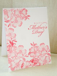 Dogwood Mother's Day Card by ThePaperMenagerie on Etsy, $4.00