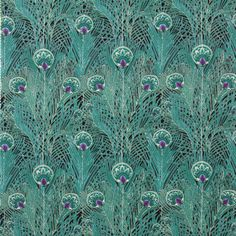Regent Peacock Cotton Lawn in Black/Teal  by MoonaFabrics on Etsy, $13.95