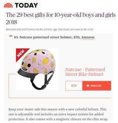 1ba75dc39d5 Nutcase Pink Lemonade Helmet: Best gift for 10 year olds according to  Today.com