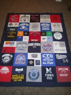 My Honey Bunch: Tutorial for T-Shirt Quilt