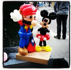 Mickey Mouse balloon sculpture