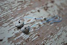 Modern Earrings  Sterling Silver  Minimalist  Long by letemendia, $24.00