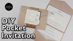 DIY Gold Foil Pocket Folio Wedding Invitation with Template - Wedding In...
