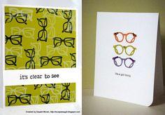 Cheerful eyewear stationary