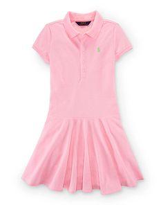 Mesh Short-Sleeve Polo Dress - Girls 7-16 Dresses & Skirts - RalphLauren.com
