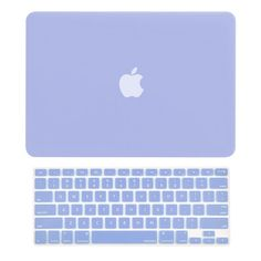 """TopCase - 2 in 1 Retina 13-Inch Rubberized Hard Case and Keyboard Cover for MacBook Pro 13"""" with Retina Model A1425 / A1502  - Serenity Blue"""