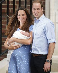 Prince George Alexander Louis with Mom and Dad