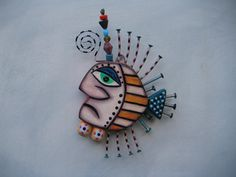 Twisted Fish, Original Found Object Sculpture, Wall Art, Wood Carving, by Fig Jam Studio via Etsy