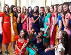 Roland Mouret Presents Spring 2016 Collection At Paris Fashion Week - LOVE the color pallette!!!