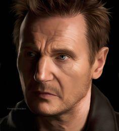 Liam Neeson by ThreshTheSky on DeviantArt Taken 2, Liam Neeson, Pencil Art, Cinema, Fan Art, Deviantart, Actors, Celebrities, Music