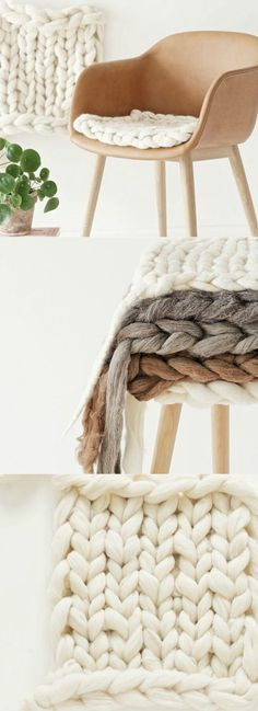 Thick wool is great to knit with, not only is it easy, but you can make something in no time at all. Annette from the blog Lebenslustiger shows you how you can knit cosy seat cushions. All you need is a little time, some wool, and your fingers.